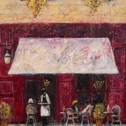 French café 1 Acrylic on canvas Size 30 x 23 each $ 180 each
