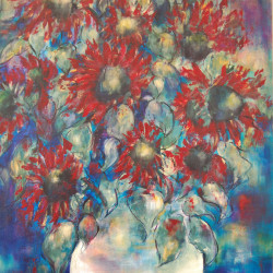 Jan Primmer - Red Sunflowers 90 X 60