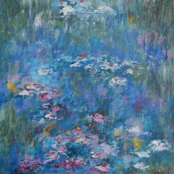 Marg Primmer - Water Lilies 1 40 X 40 cm Acrylic on canvas $180