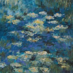 Marg Primmer - Water lilies 2 40 X40 cm Acrylic on canvas $180